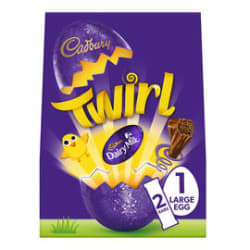 Cadbury Twirl Large Easter Egg 237g