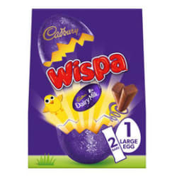 Cadbury Wispa Large Easter Egg 224g