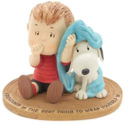 Peanuts® Linus and Snoopy Wrapped in Friendship Mini Figurine