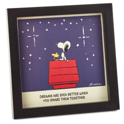 Peanuts® Snoopy and Woodstock Dream Together Framed Wall Art