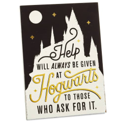 Harry Potter™ Help At Hogwarts™ Wood Quote Sign, 5x7