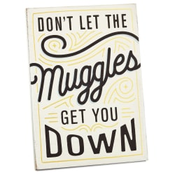 Harry Potter™ Don't Let Muggles Get You Down Wood Quote Sign