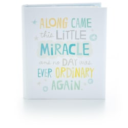 Little Miracle Baby Boy Memory Book
