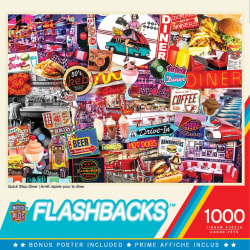 Flashbacks Quick Stop Diner 1000 Piece Puzzle