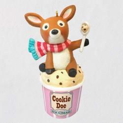 Cookie Doe Ice Cream Deer Ornament