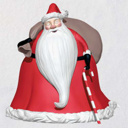 Disney Tim Burtons The Nightmare Before Christmas Santa Ornament