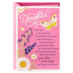 Cheering You On Religious Mother's Day Card for Daughter