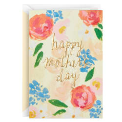 Happy Moments Watercolor Flowers Mother's Day Card