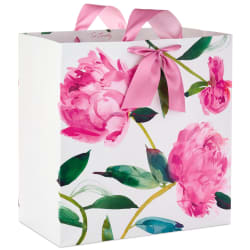 Pink Peonies on Ivory Extra-Deep Gift Bag, 15