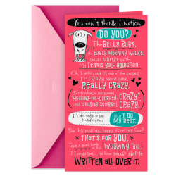 I'm Crazy About You Mother's Day Card From the Dog