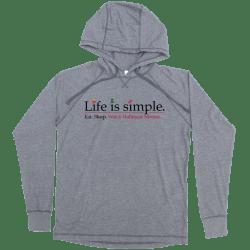 Life Is Simple Hallmark Movie Lightweight Grey Hoodie
