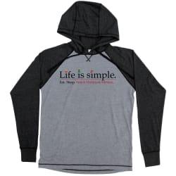 Life Is Simple Hallmark Movie Lightweight 2-Tone Hoodie