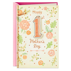 Charming Flowers First Mother's Day Card