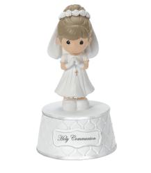 Precious Moments Holy Communion Music Box Girl Figurine