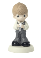 May His Light Shine In Your Heart Today And Always Boy Figurine