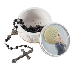 Precious Moments Faith Is The Light That Guides You Rosary Box