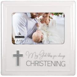 Malden Christening Ceramic Frame 4x6