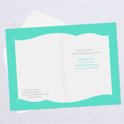 Joy in the Blessed Sacrament First Communion Card for Boy