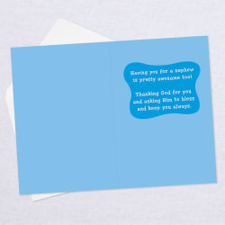 An Awesome Reason to Celebrate First Communion Card for Nephew