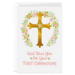 How Much Jesus Loves You Religious First Communion Card