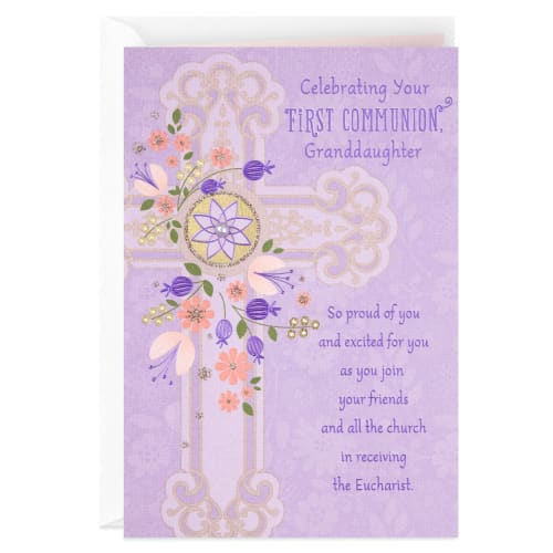 God Will Always Be With You Religious First Communion Card