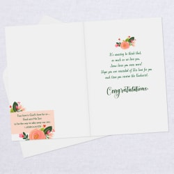His Love for You Religious First Communion Card for Niece