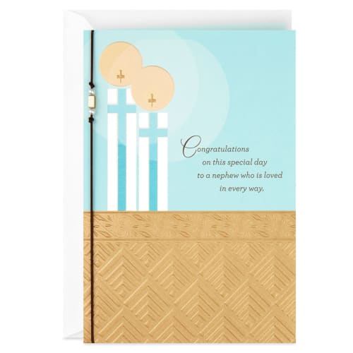 Blessings for a Special Nephew Religious First Communion Card