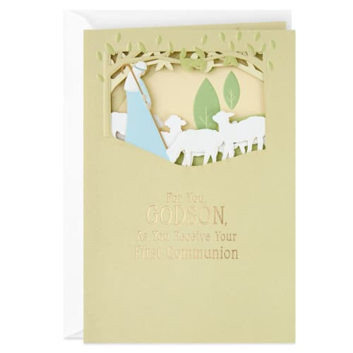 Jesus, the Lamb and the Shepherd Religious First Communion Card
