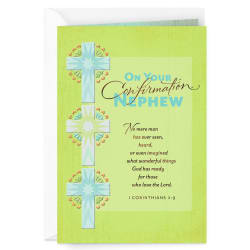 Good Things God Has in Store Religious Confirmation Card Nephew