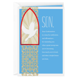 A Time for Celebration and Affirmation Confirmation Card Son