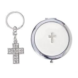 Compact Cross Keychain