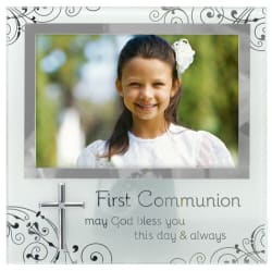 Malden Communion Frosted Glass Picture Frame 4x6