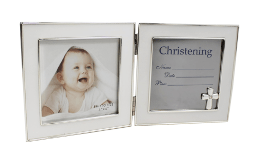 Folding Christening Picture Frame