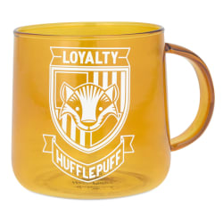 Harry Potter™ Hufflepuff™ Glass Mug, 14 oz.