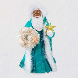 Black Father Christmas Ornament