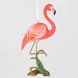 Fancy Flamingo Ornament 2021