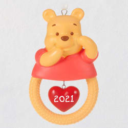 Disney Winnie the Pooh Baby's First Christmas 2021 Porcelain Orn