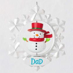 Dad Snowflake Ornament