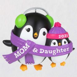 Mom & Daughter Penguins 2021 Ornament
