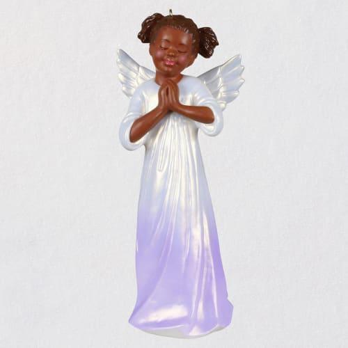 Angel of Innocence Black Angel Ornament