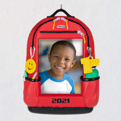 Backpack of Memories 2021 School Picture Frame Ornament