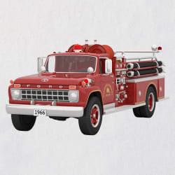Fire Brigade 1966 Ford Fire Engine 2021 Metal Ornament W/ Light
