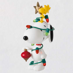 Peanuts® Spotlight on Snoopy All Decked Out Ornament