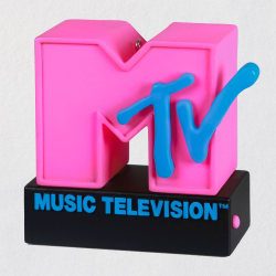 MTV Music Television™ I Want My MTV! Ornament W/ Light and Sound