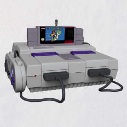 Nintendo Super NES Console Ornament With Light and Sounds