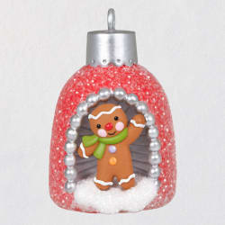 Mini A World Within Gingerbread Man Ornament, 1.3