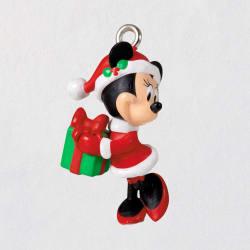 Mini Disney Minnie Mouse Merry Lil' Minnie Ornament, 0.8