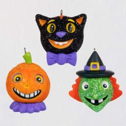 Mini Vintage Halloween Cuties Ornaments, Set of 3
