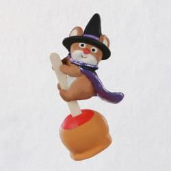 Mini Caramel Apple Cutie Mouse Halloween Ornament, 1.5