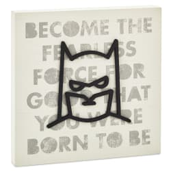 DC Comics™ Batman™ Fearless Force Wood Quote Sign